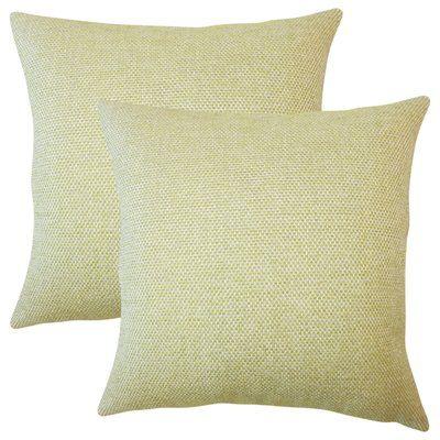 Brayden Studio Chapple Solid Throw Pillow Color Apple Green Throw Stunning Apple Green Decorative Pillows