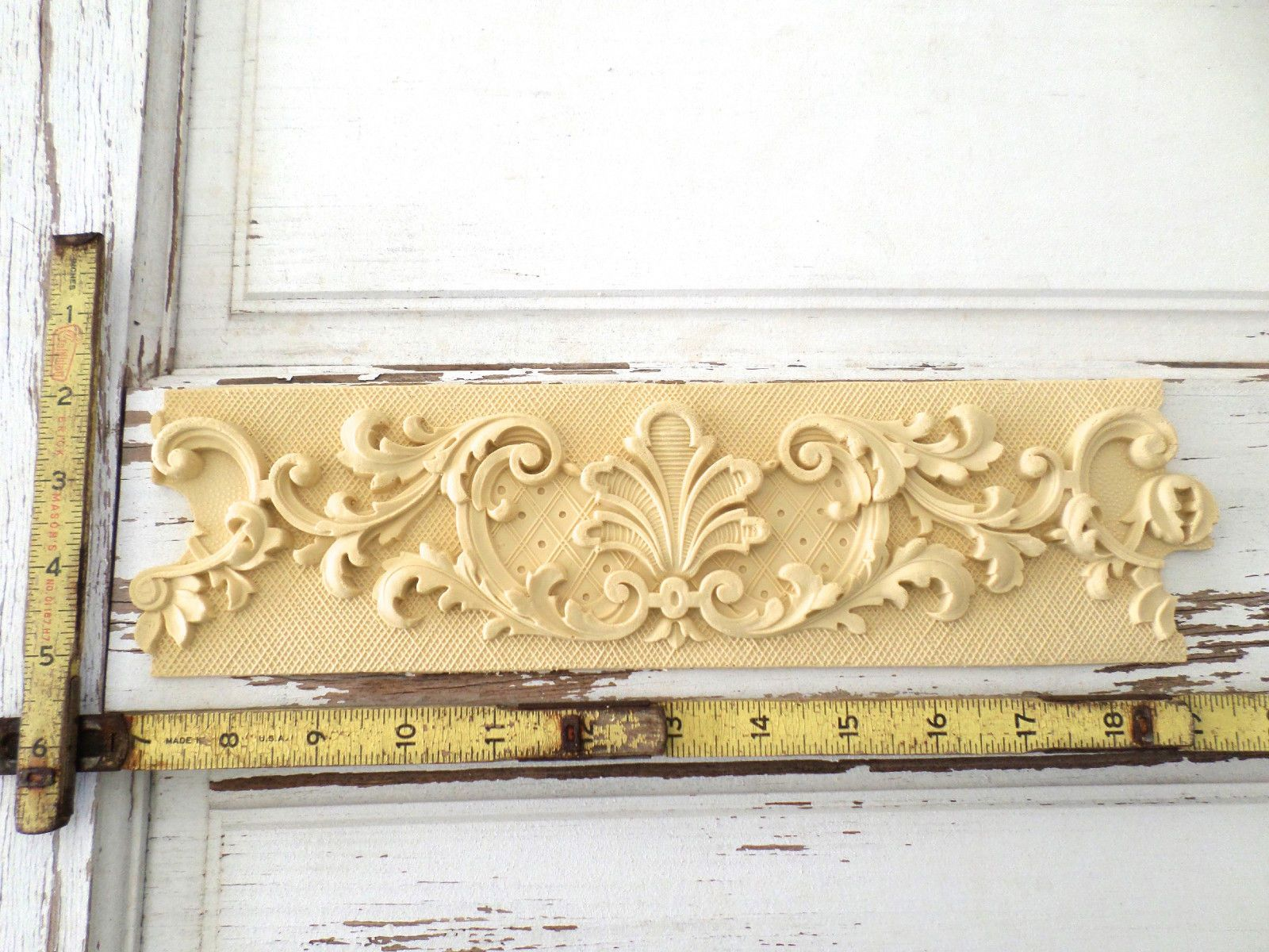 Furniture architectural appliques moulding (3 piece)-wood & resin ...