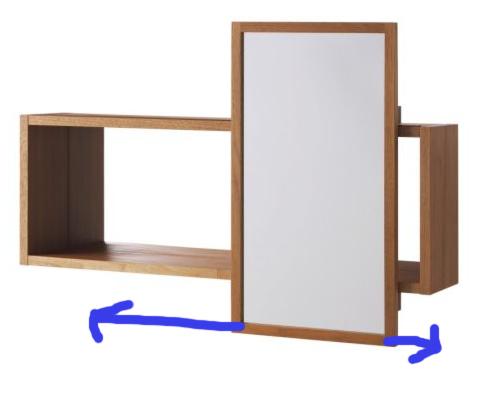 Molger Sliding Bathroom Mirrored Cabinet By Ikea Bathroom Mirror