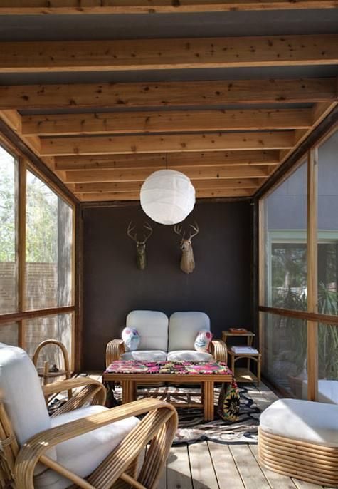 Architect Visit Screened Porch By Poteet Architects In