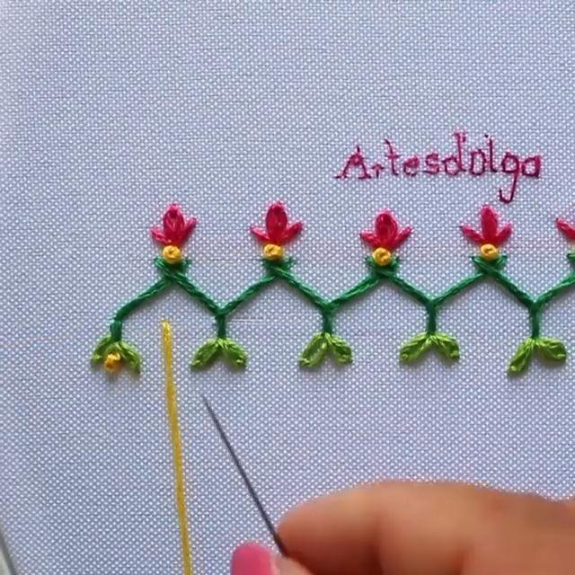 Bordado a Mano Puntadas Decorativas 1 In this tutorial I show you decorative stitches. I hope you