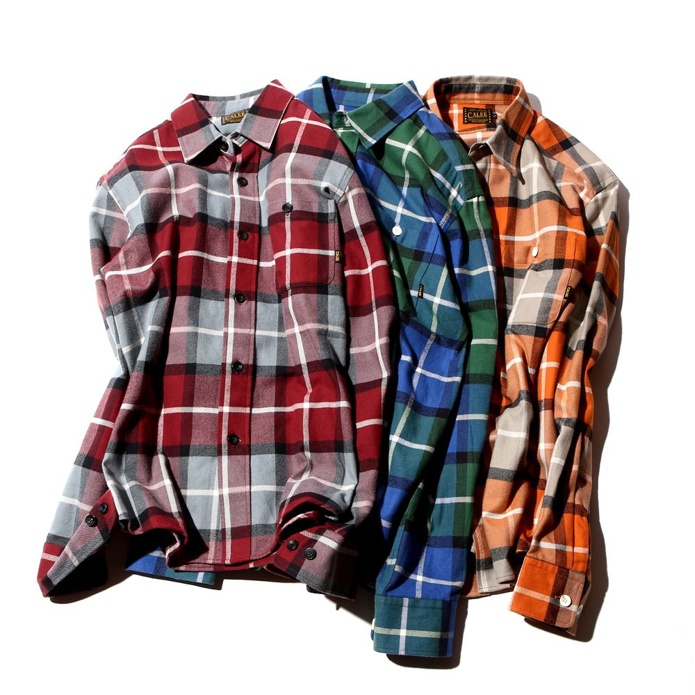 Flannel hoodie men  CALEE   Spring Collection LS Viella check shirt  Fresh