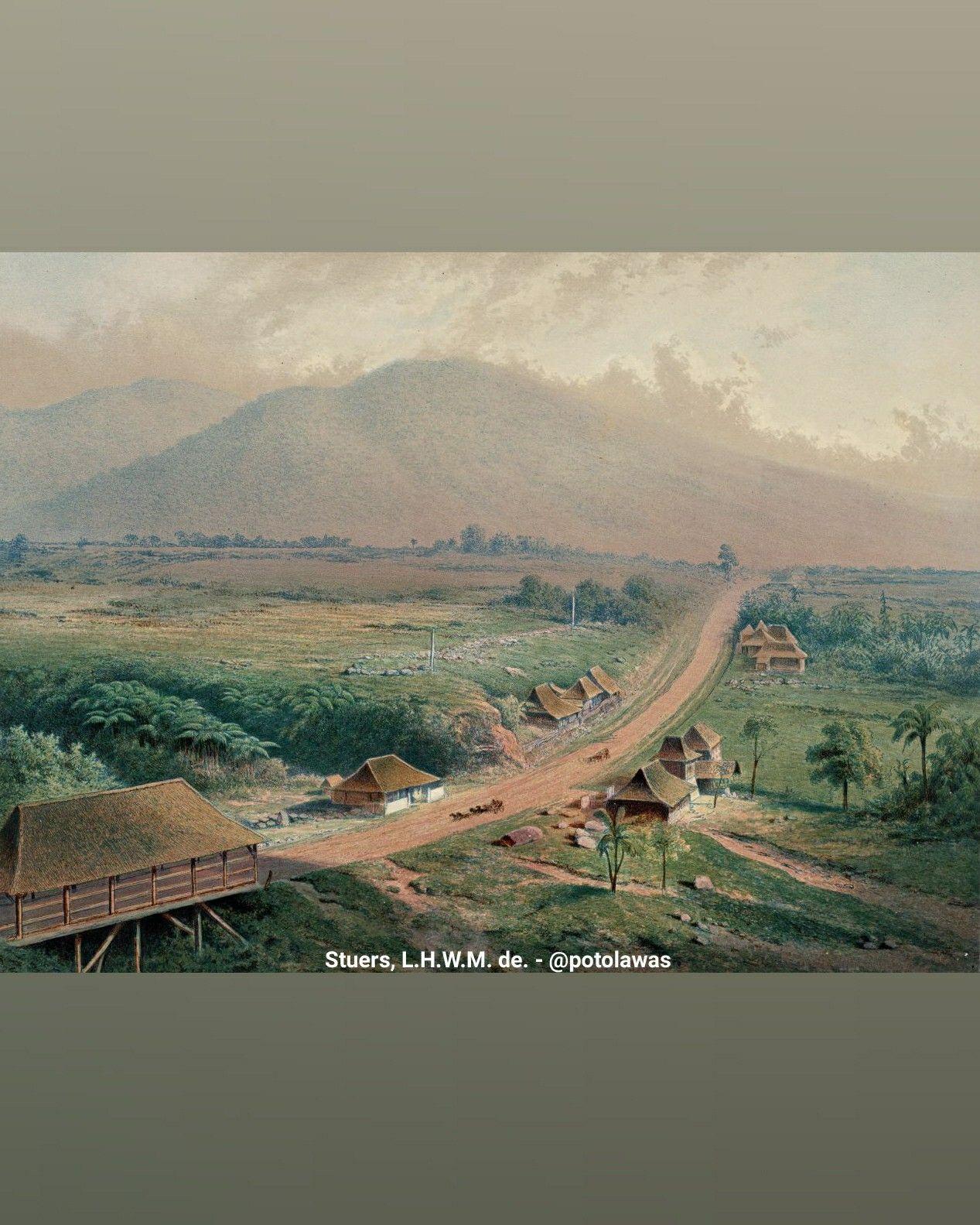Lukisan Karya L H W M De Stuers Sekitar Tahun 1867 Di Batoe Toelis Buitenzorg Bogor Jawa Barat Pemandangan Jalan D Di 2020 Pemandangan Foto Zaman Dulu Litografi