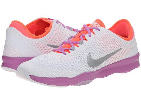 Nike Zoom Fit White/Fuchsia Glow/Hot Lava/Metallic Silver - 6pm.
