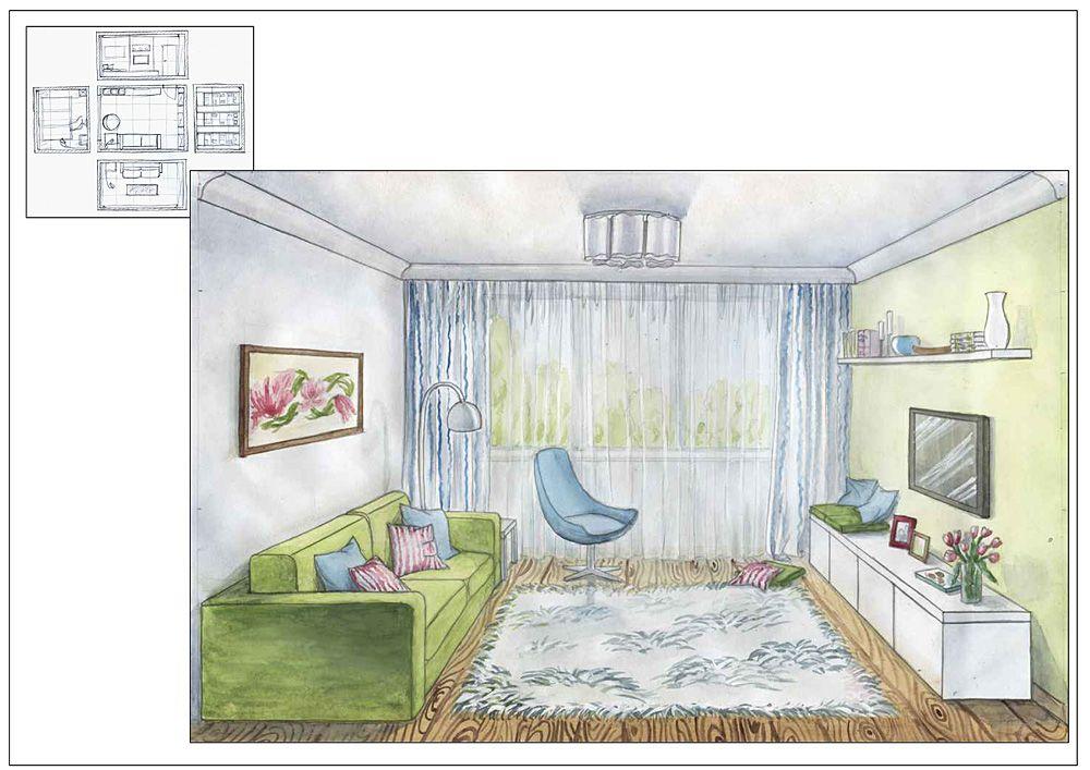 расположен интерьер комнаты рисунки по изо предложения