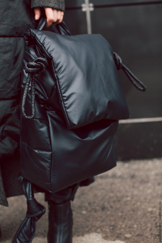 b9990700fbe1 Купить или заказать Стёганый рюкзак ( мягкий, стильный, лёгкий) в интернет  магазине на Ярмарке Мастеров. С доставкой по России и СНГ.