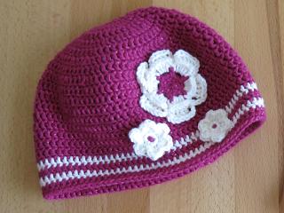 Mädchen Mütze Mit Blumen Häkeln Crochet Girls Hat With Flowers Diy