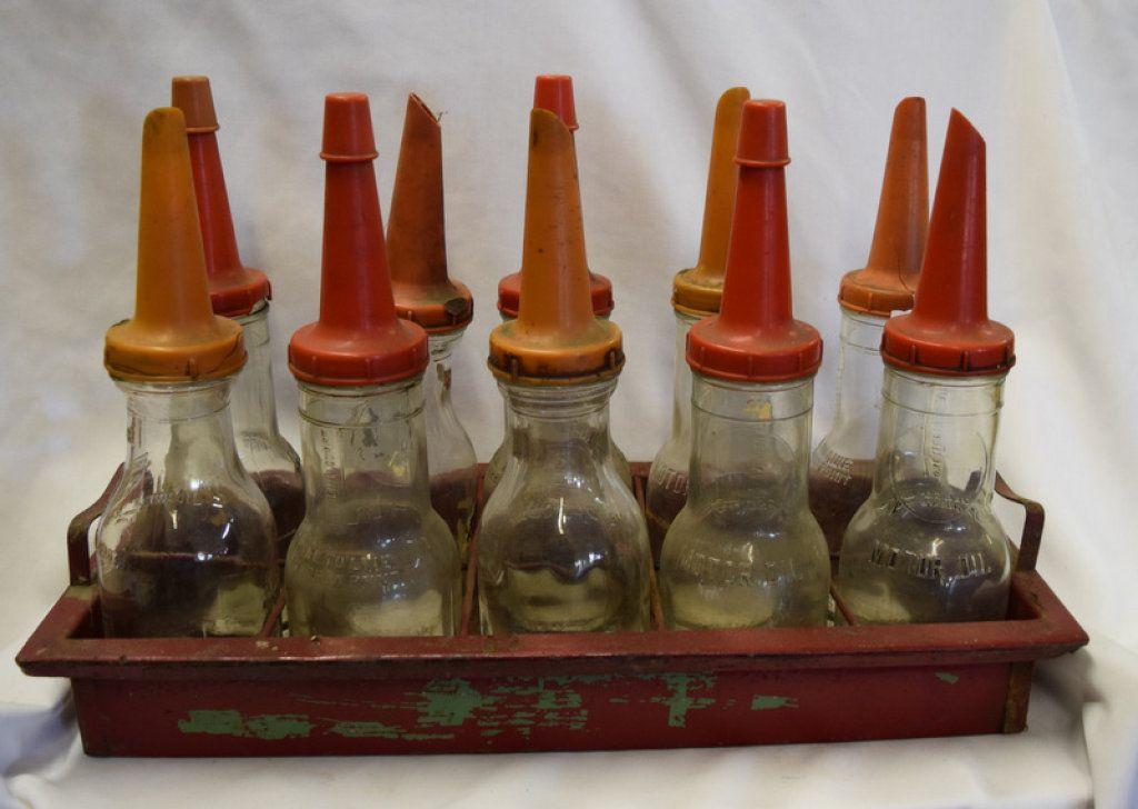 Lot Antique Glass Motor Oil Bottles Oil Bottle Antique Glass Glass