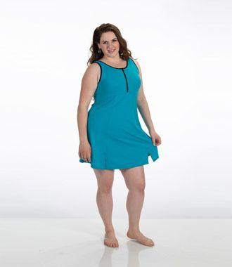 Plus Size Swim Dress | Womens Plus Size Swimwear | JunoActive AquaSport Swimsuits