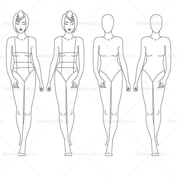 female fashion croquis template in 2018 ai pinterest croquis