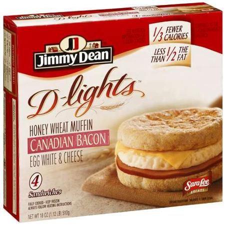 breakfast frozen dean sandwich carb low sandwiches jimmy canadian bacon delights muffin visit healthy wheat 4ct honey
