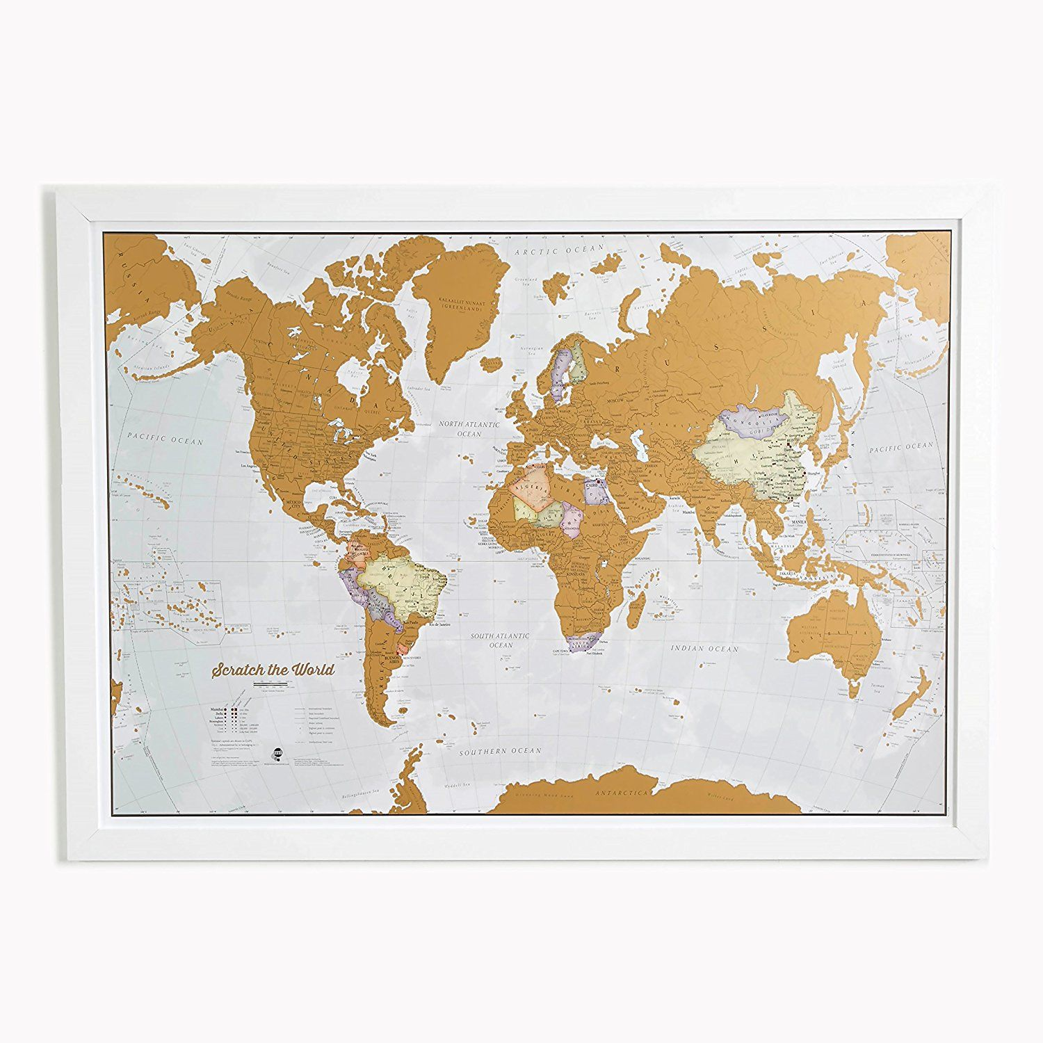 Amazon scratch the world scratch off places you travel map amazon scratch the world scratch off places you travel map print gumiabroncs Choice Image