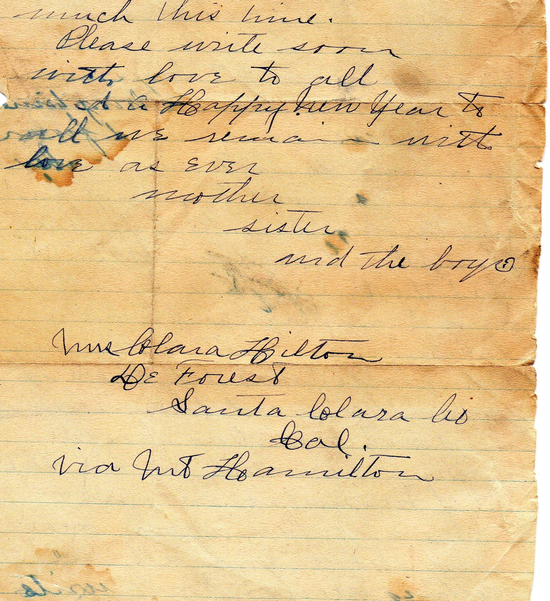 Written To Great Grandpa Pg 2