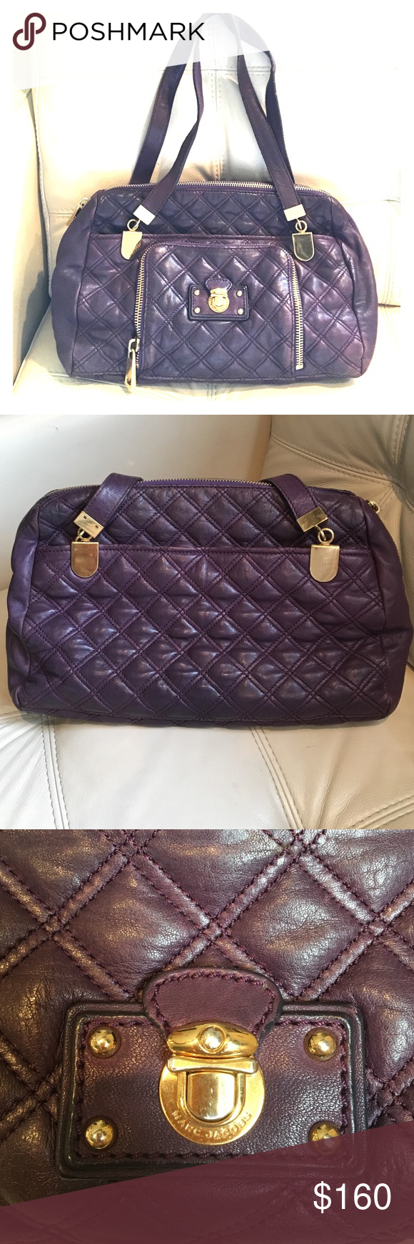 6d61a80a38e9 Marc Jacobs Quilted Spring Street Tote Bag Authentic