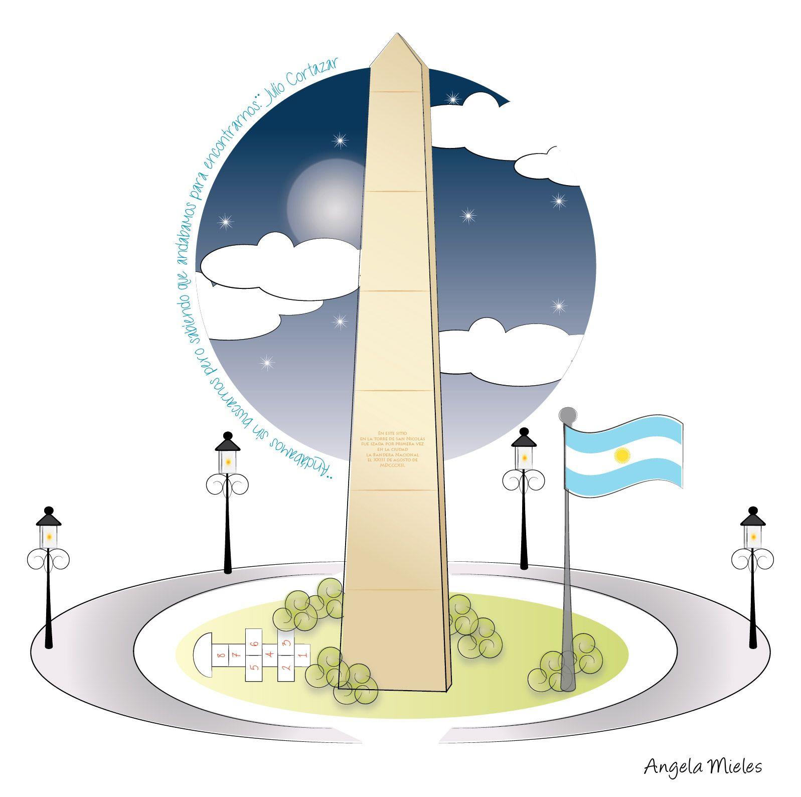 Obelisco Graphicdesign Ilustrator Diseno Vector Argentina Disenos De Unas Obeliscos Vector