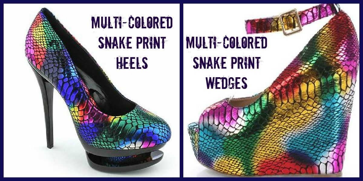 Multi-Colored Snake Print