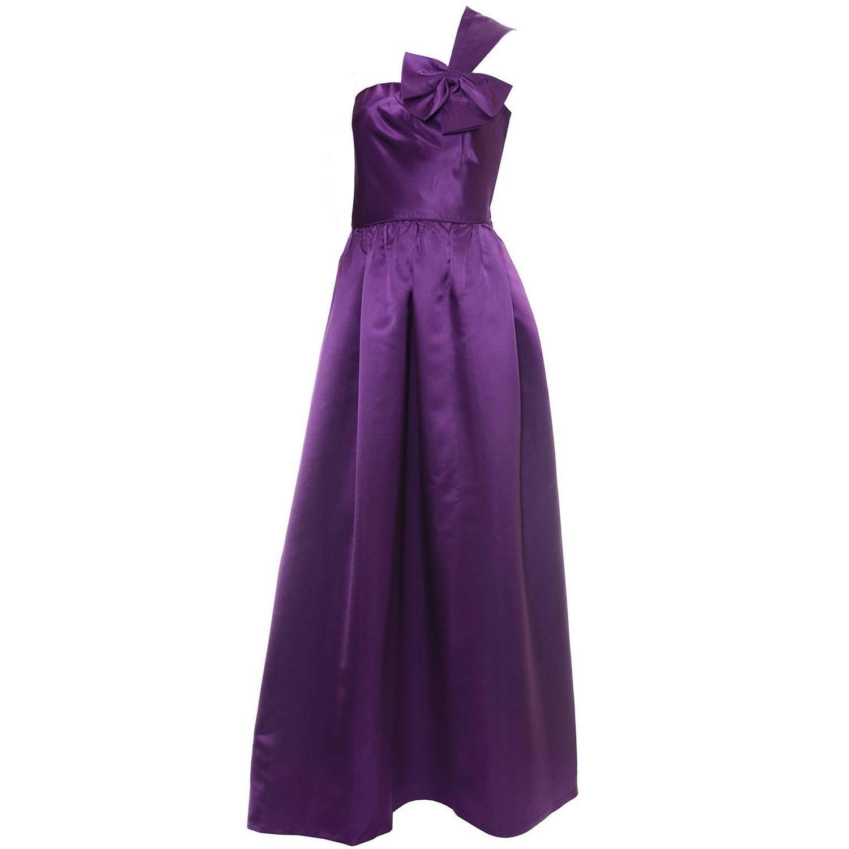 Vintage Purple Satin Dress