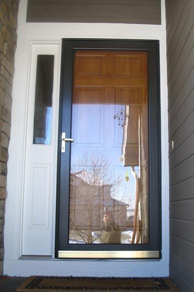 Front Doors With Storm Door black storm door against white can work | front door | pinterest