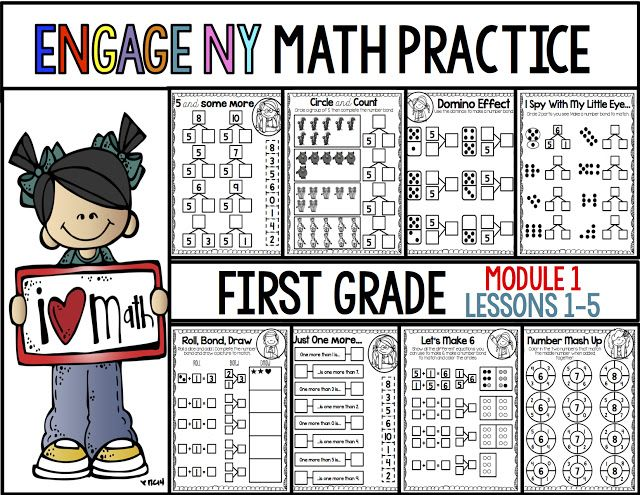 First Grade Engage NY Math: Module 1- Lessons 1-5 ...