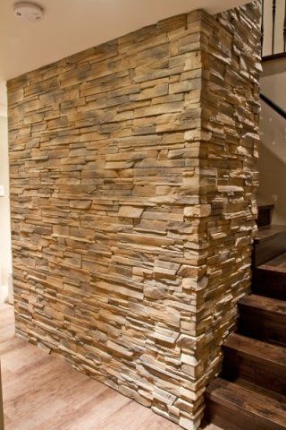 Dry Stack Ledge Stone Stair Feature Wall Stone Feature
