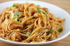 Nouilles chinoises au poulet et sauce soja avec Thermomix