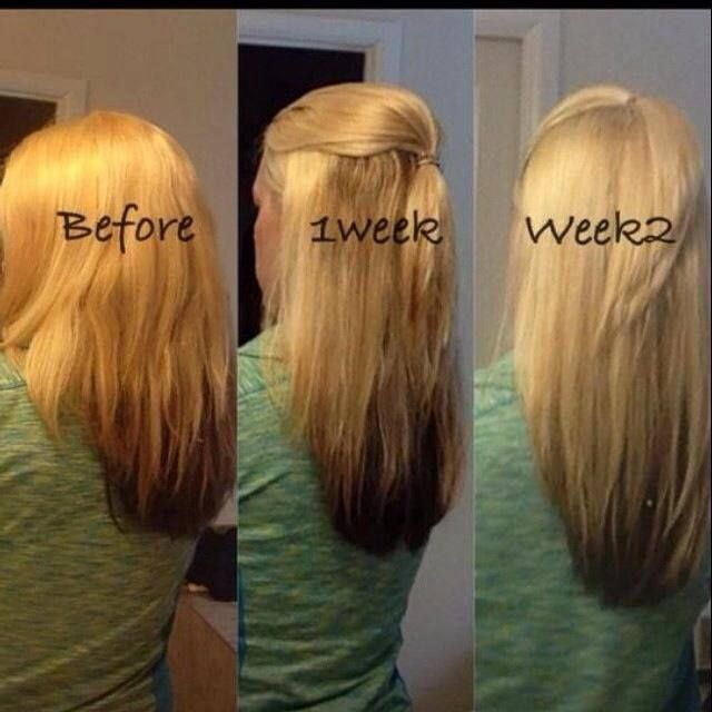 It Works Hair Skin and nails! This customers awesome results after 2 ...