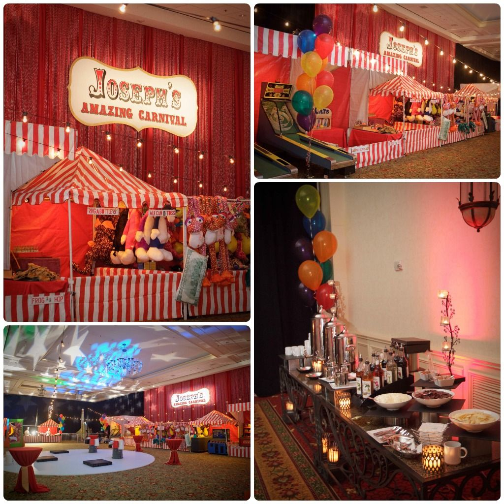 Tags bar and bat mitzvah event decor themes venues - Carnival Themed Bar Mitzvah Bliss Events Orlando Mitzvahs Jw Marriott A Chair