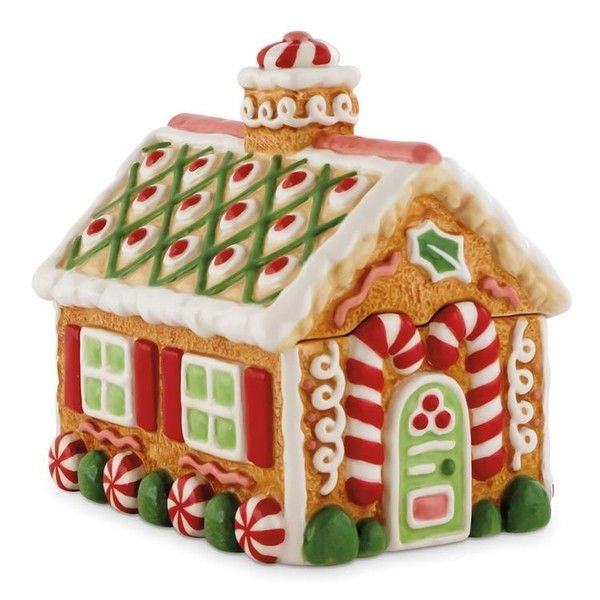 Fitz and Floyd Gingerbread Village Lidded Box - House with Candy