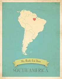 South America My Roots Map from Children Inspire Design