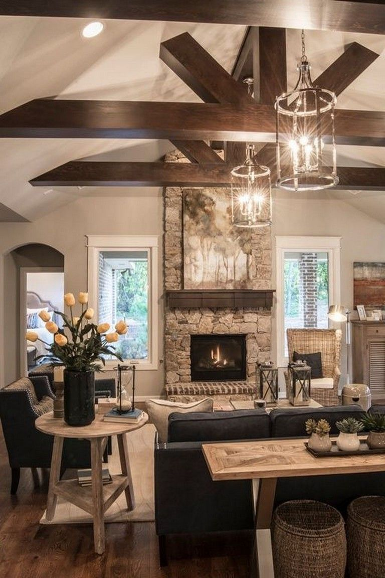 41+ Comfy Small Farmhouse Rustic Living Room Decorating Ideas
