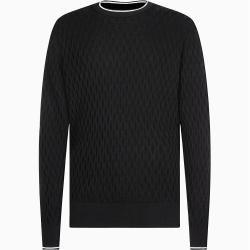 Photo of Calvin Klein Strukturierter Pullover aus Baumwollmischung M Calvin KleinCalvin Klein