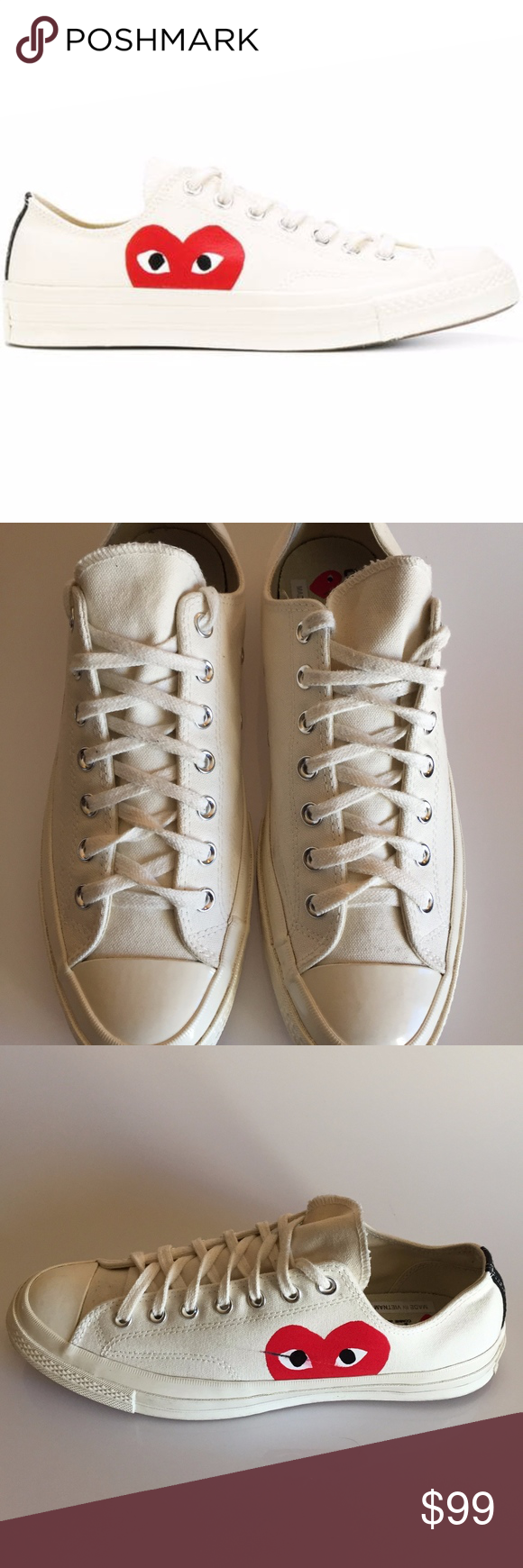 b2330f5e2536 CONVERSE Comme Des Garcons PLAY Men s Chuck Taylor   In great conditions