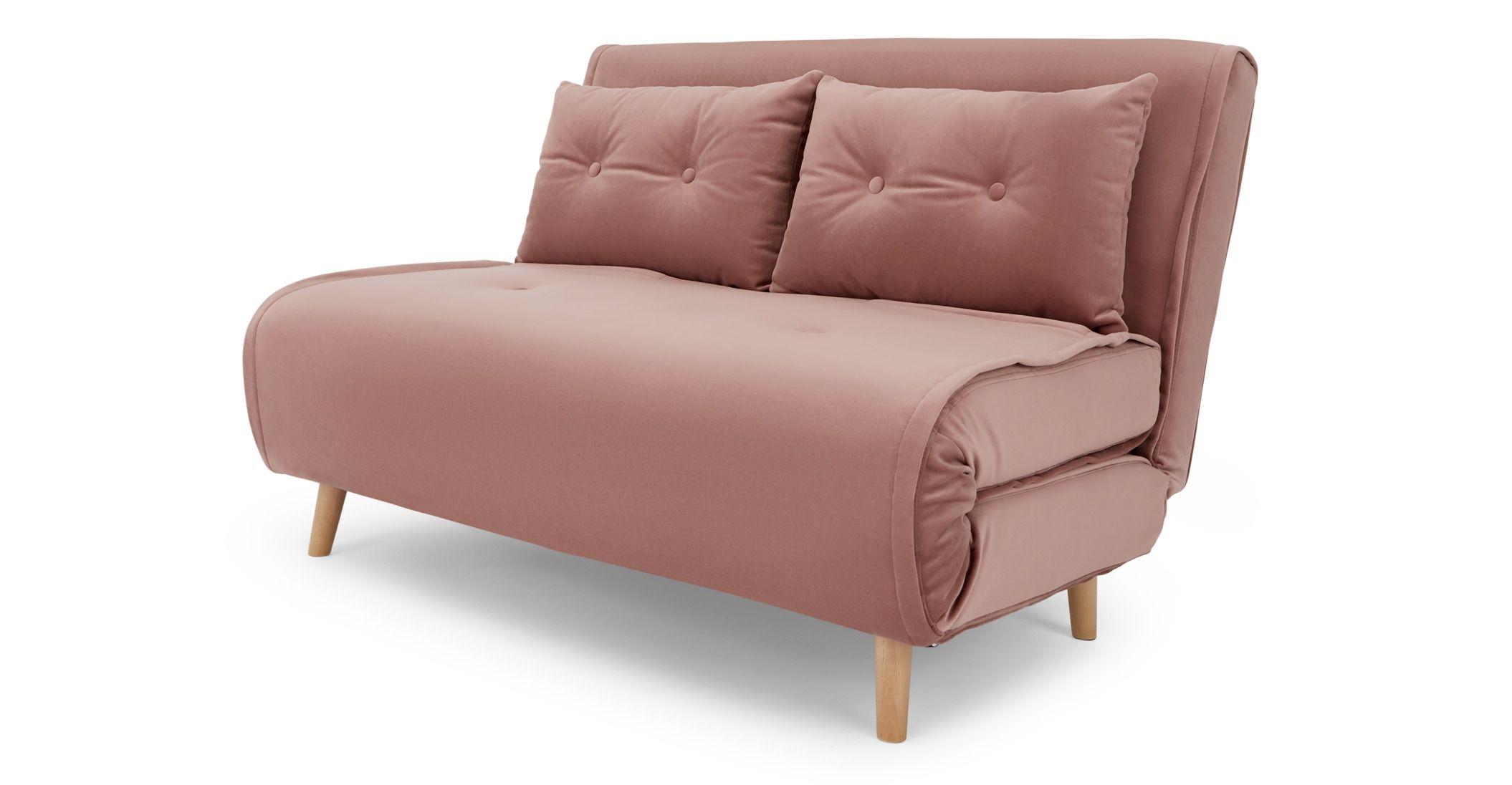 Haru Small Sofa Bed Vintage Pink Velvet Made Com Small Sofa Bed Small Sofa Sofa Bed Vintage