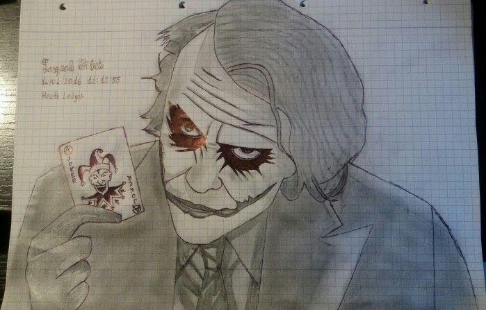 Joker Scribble Drawing : Heath ledger drawing