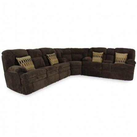 HOME STRETCH DESIGNS DANE CHOCOLATE SECTIONAL - SOFA, SECTIONAL, LIVING ROOM Gallery Furniture