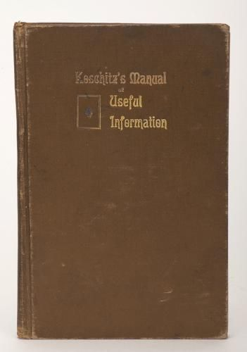 KoschitzÍs Manual of Useful Information: Concerning Marks and Stamps, Portable and Fixed Devices, Manipulation of Cards and Other Matters of Interest to Lovers