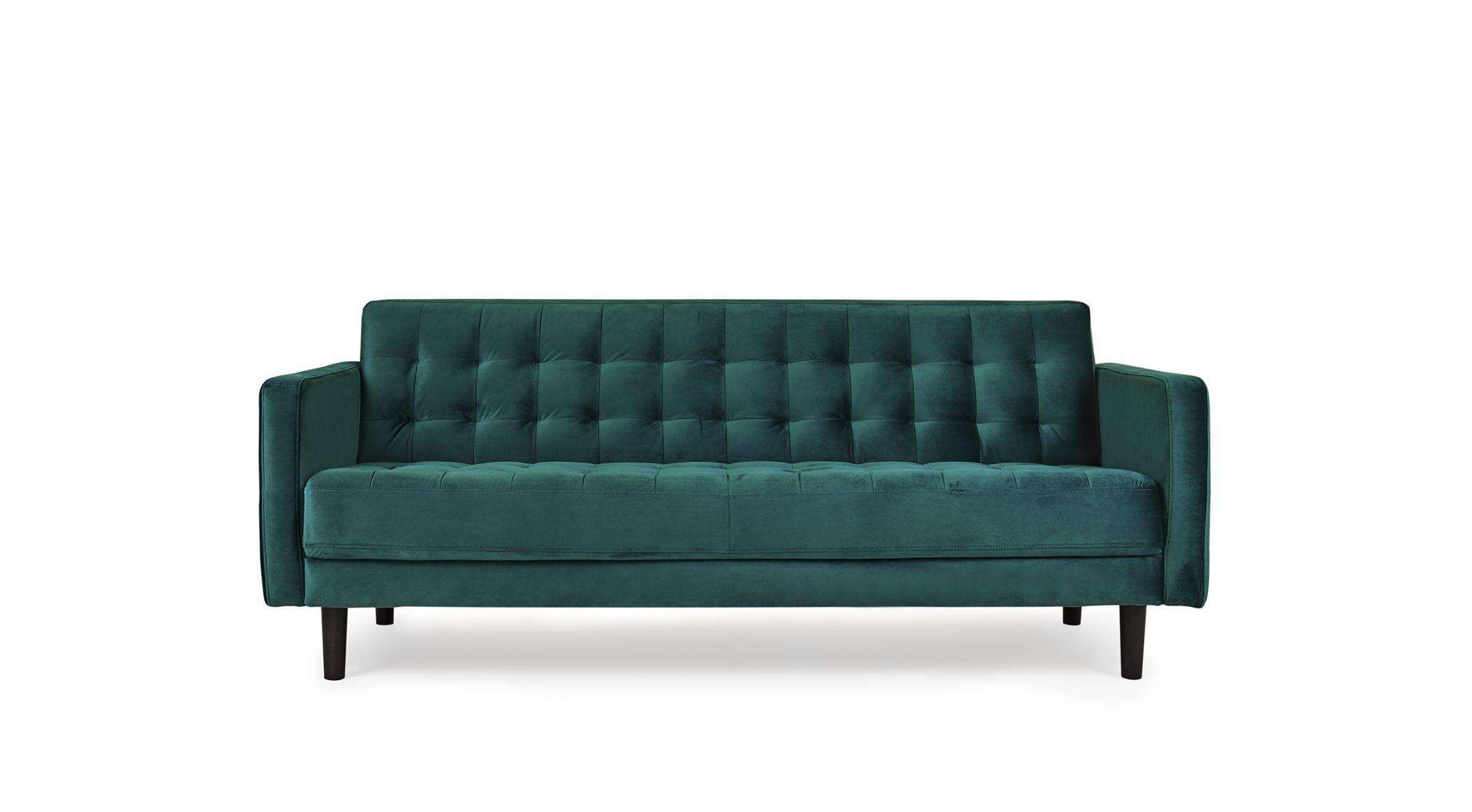 Harriett sofa 3 seater classical mid century royal green teal