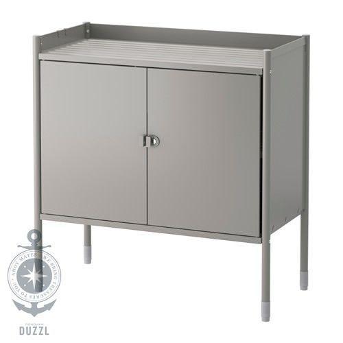 IKEA HINDÖ Schrank in grau; für drinnen und draußen