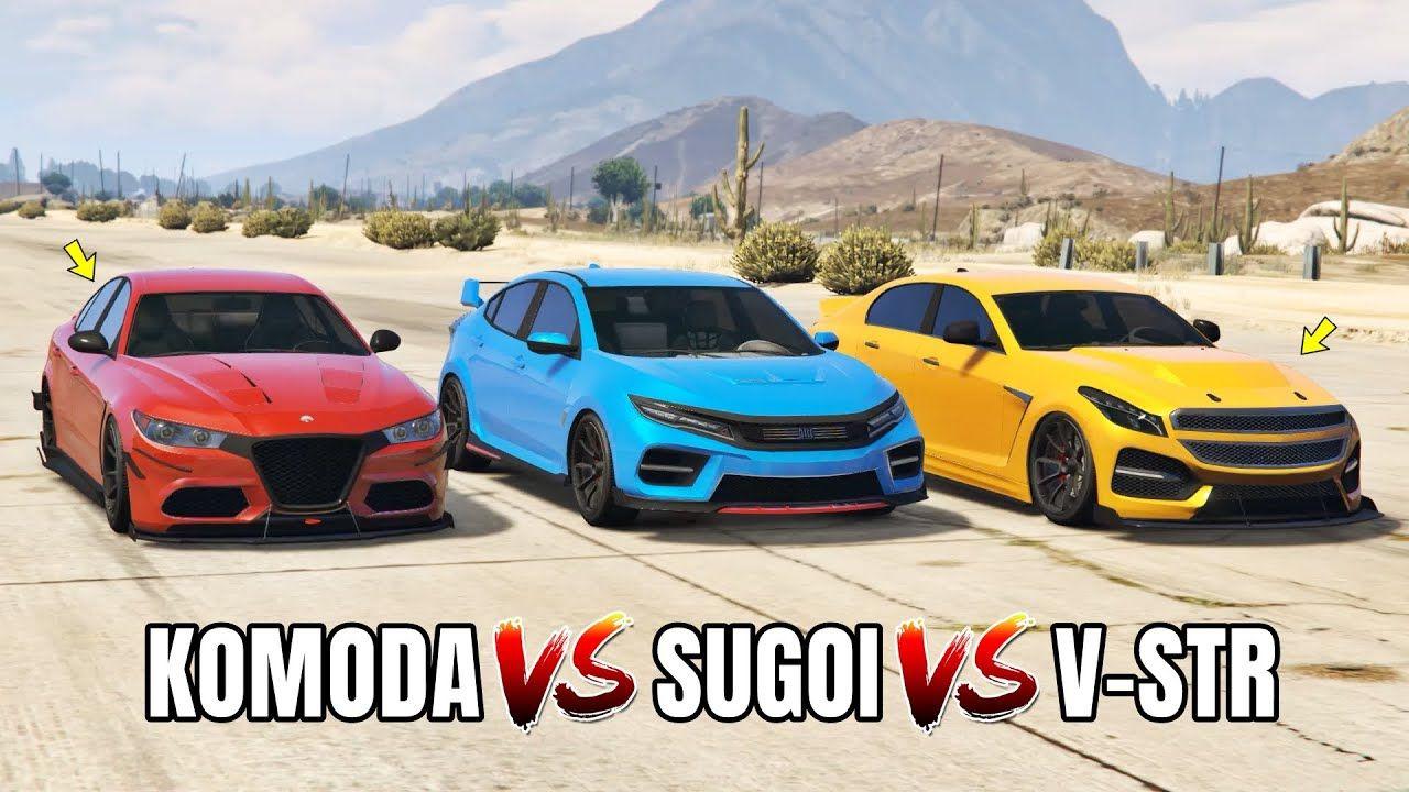 Gta 5 Online Sugoi Vs Komoda Vs V Str Which Is Fastest In 2020 Gta 5 Gta 5 Online Online Cars