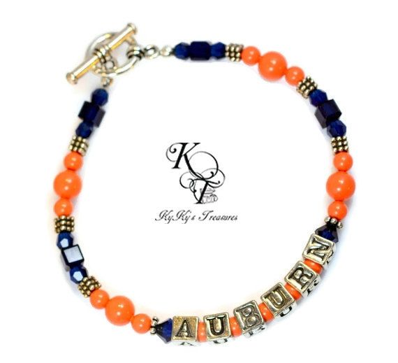 Auburn Bracelet Jewelry Gifts Football Sports