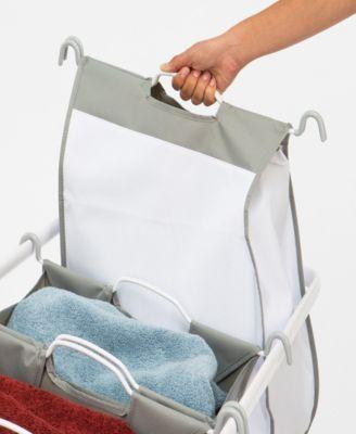 Seville Classics Premium 3 Bag Heavy Duty Tilt Laundry Hamper Sorter Cart Products In 2019 Laundry Sorter Laundry Hamper Bags