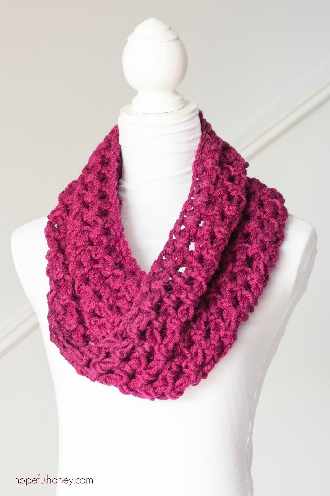 Basic Chunky Cowl - Beginner Crochet Pattern | Patrones de ganchillo ...