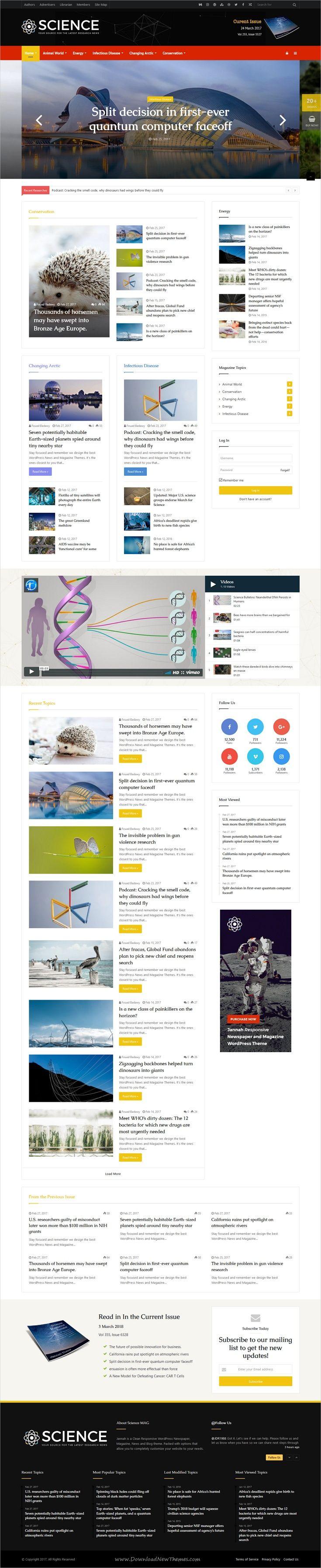 Jannah - WordPress News Magazine Blog & BuddyPress Theme