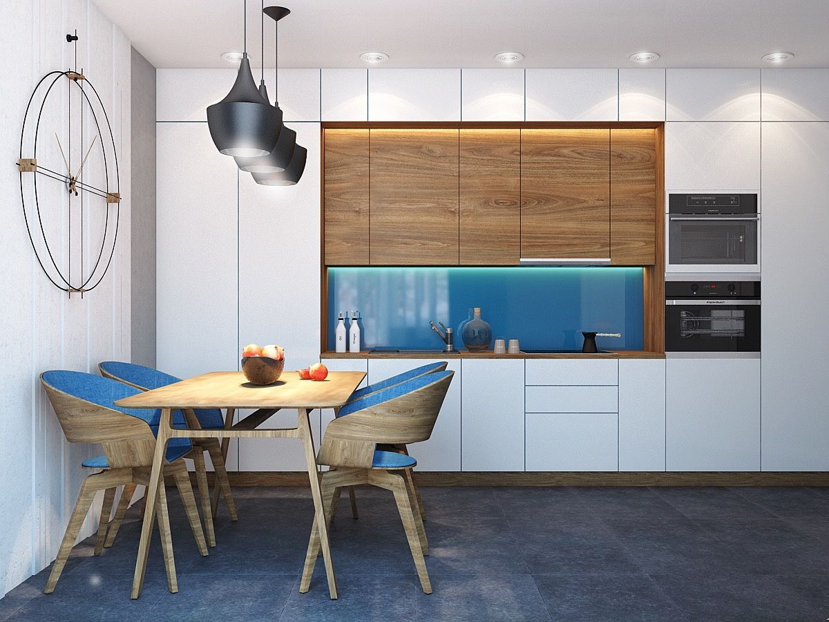 Captivating 4 Charming Blue Accent Apartments With Compact Layouts