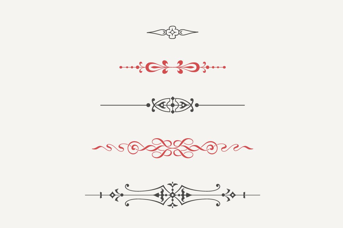 text divider font