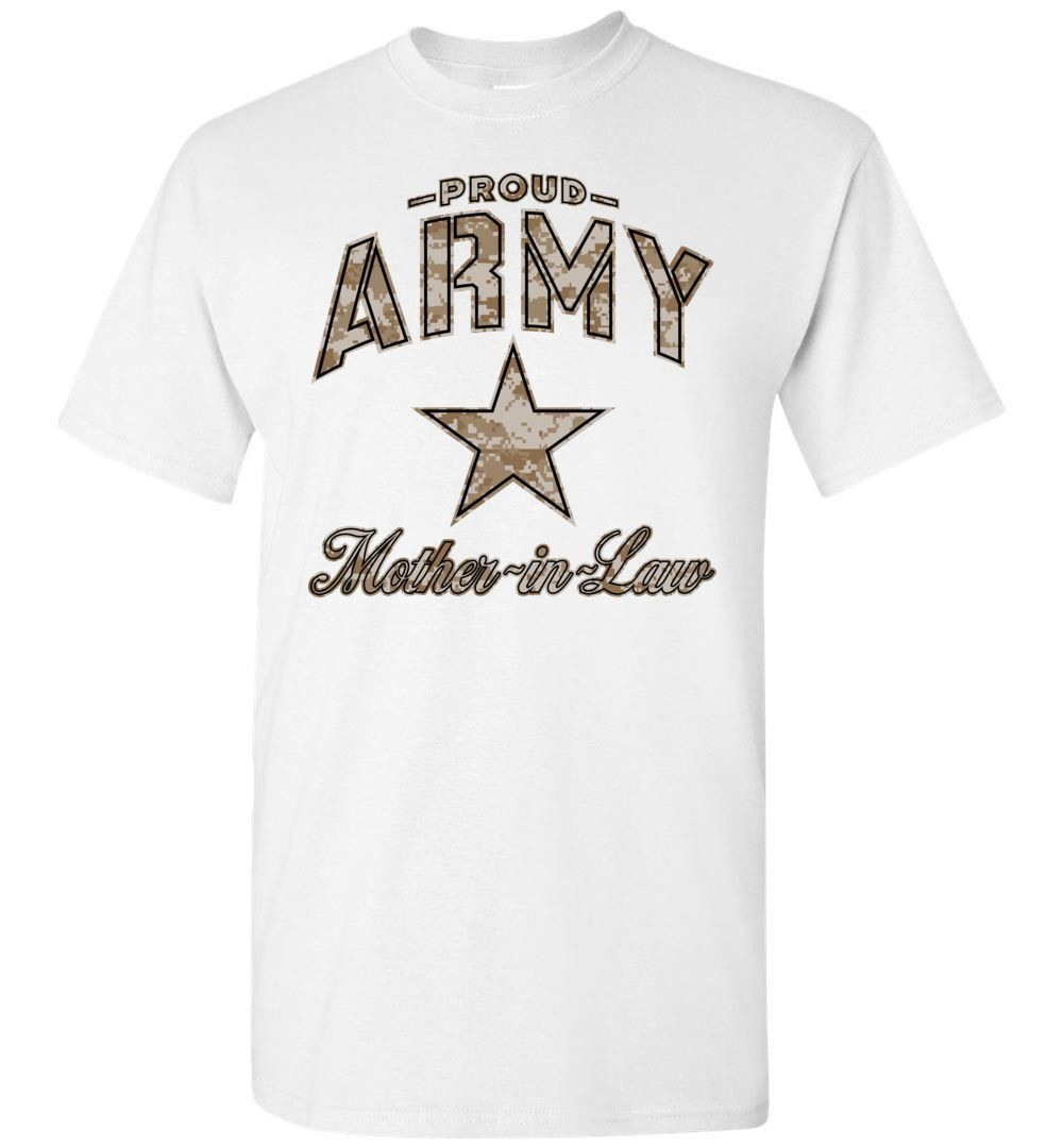 Proud Army Mother-in-Law Camo T-Shirt
