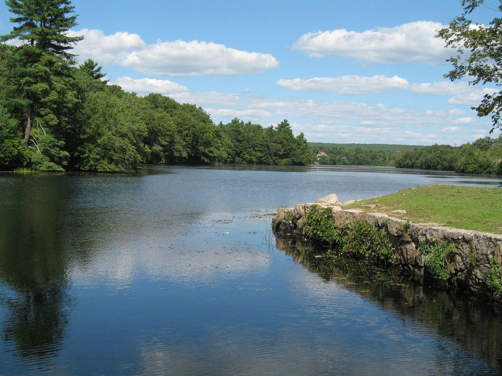 The Wood River in Richmond RI. The river is across the street from ...