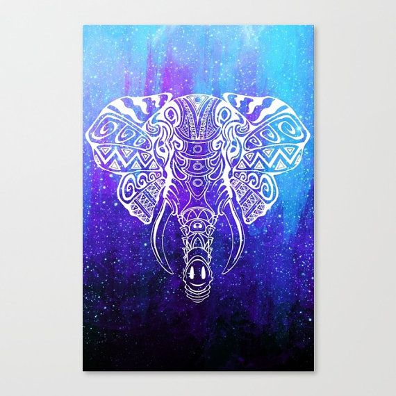 Elephant Painting Canvad Space Canvas Galaxy