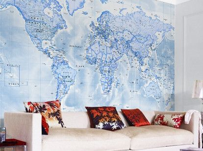 Map wallpaper from love maps on kids and teenagers pinterest transform your home school or office with a high quality map wallpaper choose from ordnance survey world or historical map wallpaper gumiabroncs Choice Image