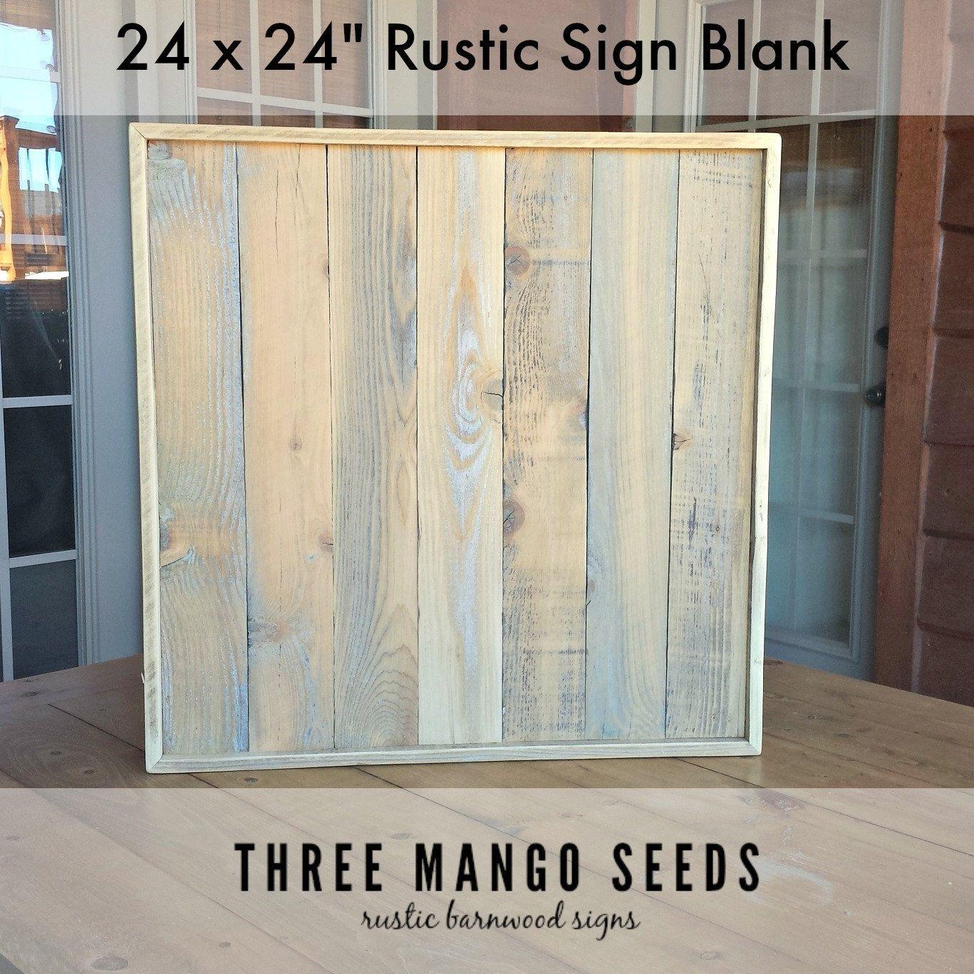Blank Rustic Wood Sign / 24 x 24 / Reclaimed / Wood / Pallet
